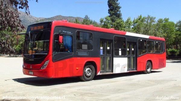 CU02 – Tren NS93 2071 + 221e por Vicuña Mackenna + C02 Torino Volvo
