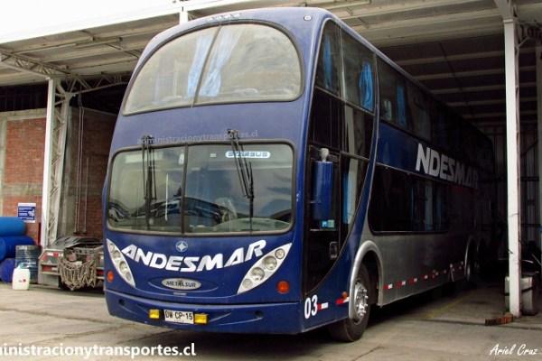Uno de los 2 Metalsur Starbus 1 que quedan en Andesmar Chile