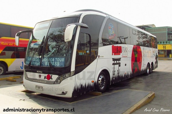 EV: Moraga Tour en viaje Santiago – Curicó, Neobus New Road N10 380