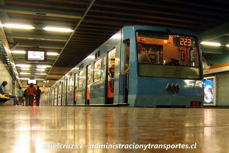Tren Concarril NS88 de Metro de Santiago, Lo Ovalle, Marzo 2009