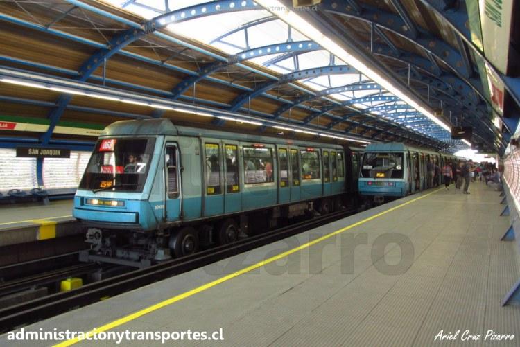 Metro de Santiago | Estación San Joaquín (L5) / Alstom NS93 2063 y 2056