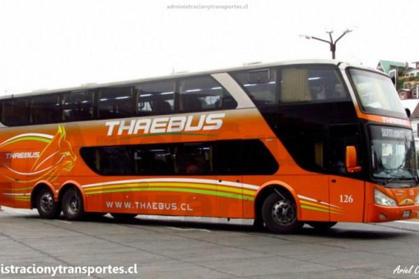 Viaje Thaebus 126 (Salón Cama), Santiago a Temuco