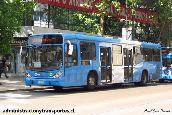 Transantiago | Marcopolo Gran Viale – Volvo B290R (Bus Biportal)
