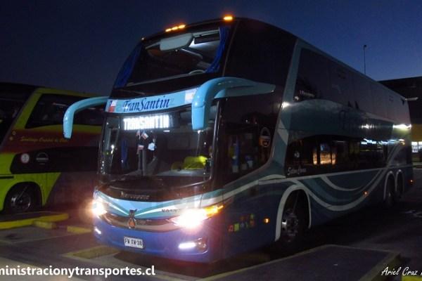 EV: Buses Transantin 38 en viaje Valdivia – Santiago (Salón Cama)