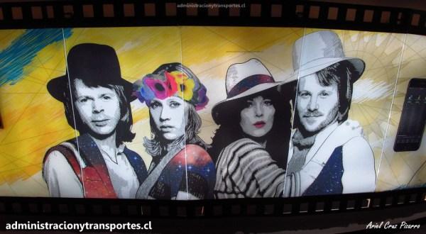 La maravillosa Vía Suecia en Metro Los Leones (Línea 6)