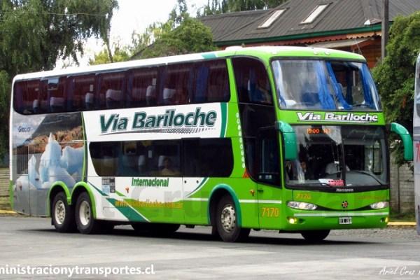 EV: Vía Bariloche en viaje Osorno – Bariloche, Marcopolo Paradiso 1800 DD