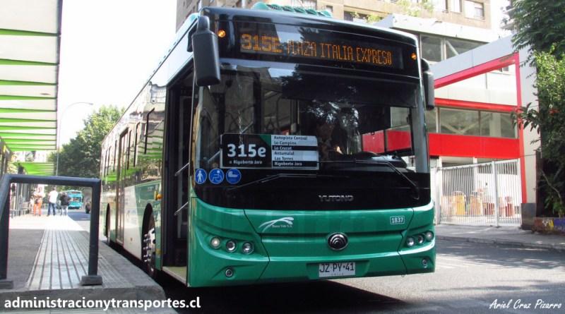 Transantiago | El primer bus eléctrico Yutong E12 de Vule