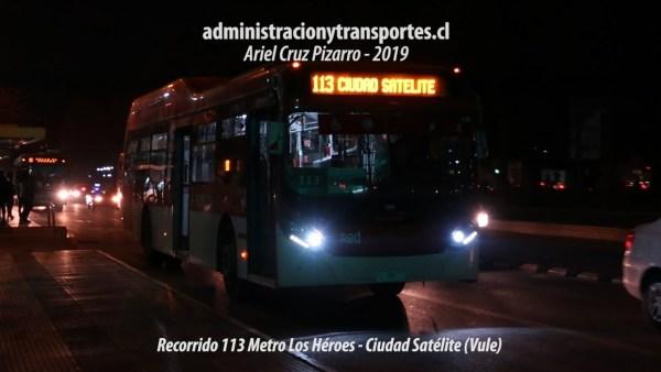 Recorrido 113 Santiago