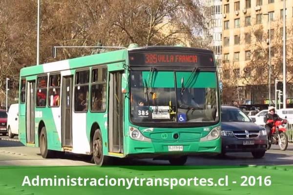 Recorrido 385 Santiago