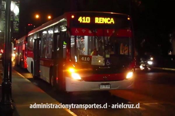 Recorrido 410 Santiago