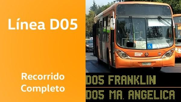 Recorrido D05 Santiago