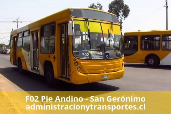 Recorrido F02 Santiago