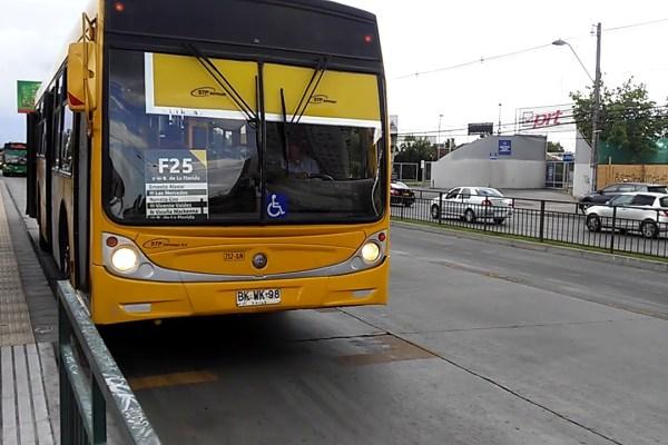 Recorrido F25 Santiago
