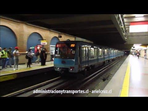 [VIDEO] Metro de Santiago: Tren NS88 en Cal y Canto