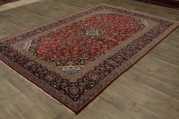 Nice Semi Antique Hand Knotted Red Kashan Persian Rug