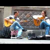 Flamenco guitars on Barcelona Streets