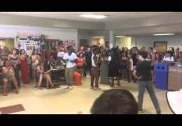 Dance off at high school CROWD GOES INSANE