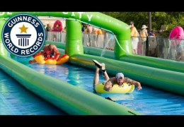 Longest distance travelled on a slip and slide – Guinness World Records