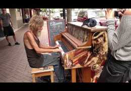 Homeless Man Plays Piano Beautifully (Sarasota, FL)