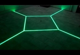 how to LED floor tiling system DIY make your floor interactive Aluminum LED Light tilebar profile