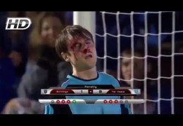 Goalkeeper Saves 5 penalty With His Face