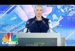 Interview With The Lifelike Hot Robot Named Sophia (Full) | CNBC