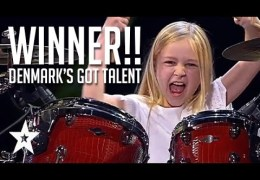 10 Year Old Drummer Johanne Astrid – Winner Of Denmark's Got Talent 2017 Compilation