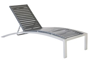 Curv 71203 Vinyl Strap Stacking Chaise Lounge