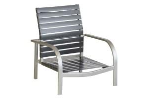 Curv 71301 Vinyl Strap Stacking High Back Beach Chair