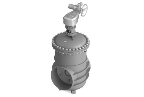 Засувка клинова штампозварна з невисувним шпинделем під приварення 30с527нж Ду 1000