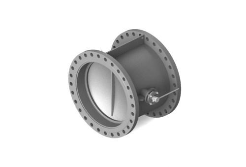 Затвор (клапан) зворотній дисковий сталевий фланцевий 19с49нж Ду 150 Ру 25