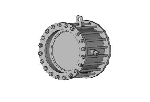 Затвор (клапан) зворотній дисковий сталевий міжфланцевий 19с49нж Ду 150 Ру 25