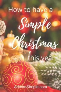 Simplify Christmas