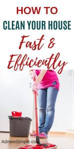 How to clean house fast, house cleaning tips