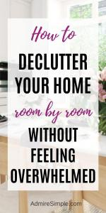 areas to declutter, declutter your home, declutter room by room