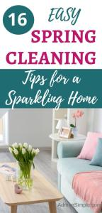 easy spring cleaning tips, cleaning hacks, deep clean your house