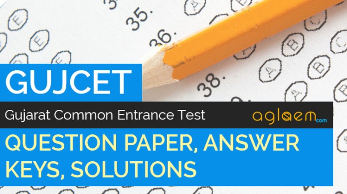 GUJCET Question Paper Answer Key Solutions