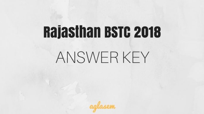 Rajasthan BSTC Answer Key 2018 with Question Paper