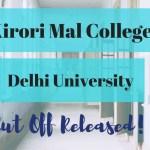 Kirori Mal College cut off