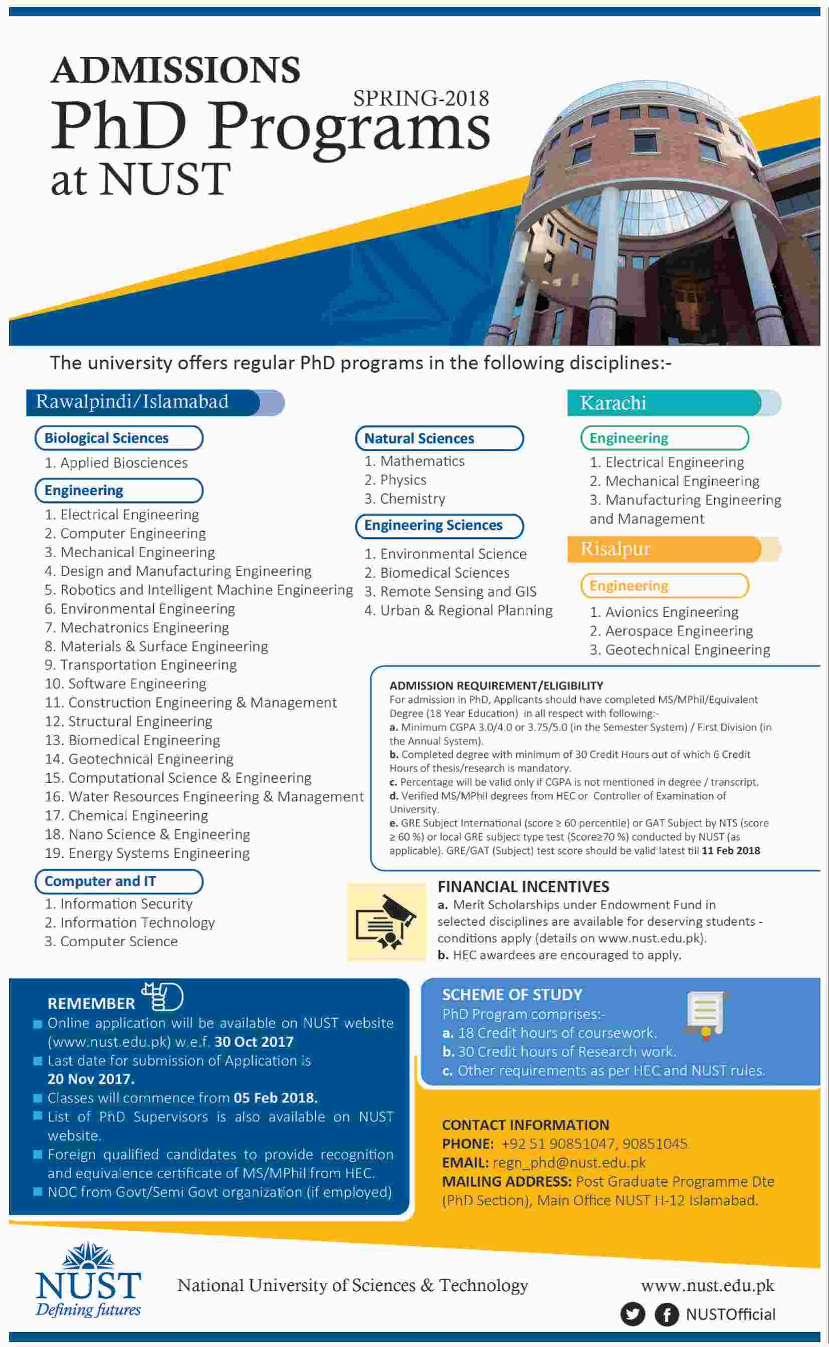 Admission Open In University Of Engineering And Technology