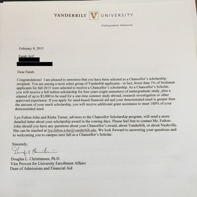 All About Merit Scholarships Inside 'Dores Vanderbilt University