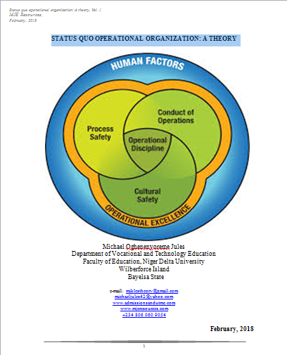Status Quo Operational Organization: A Theory