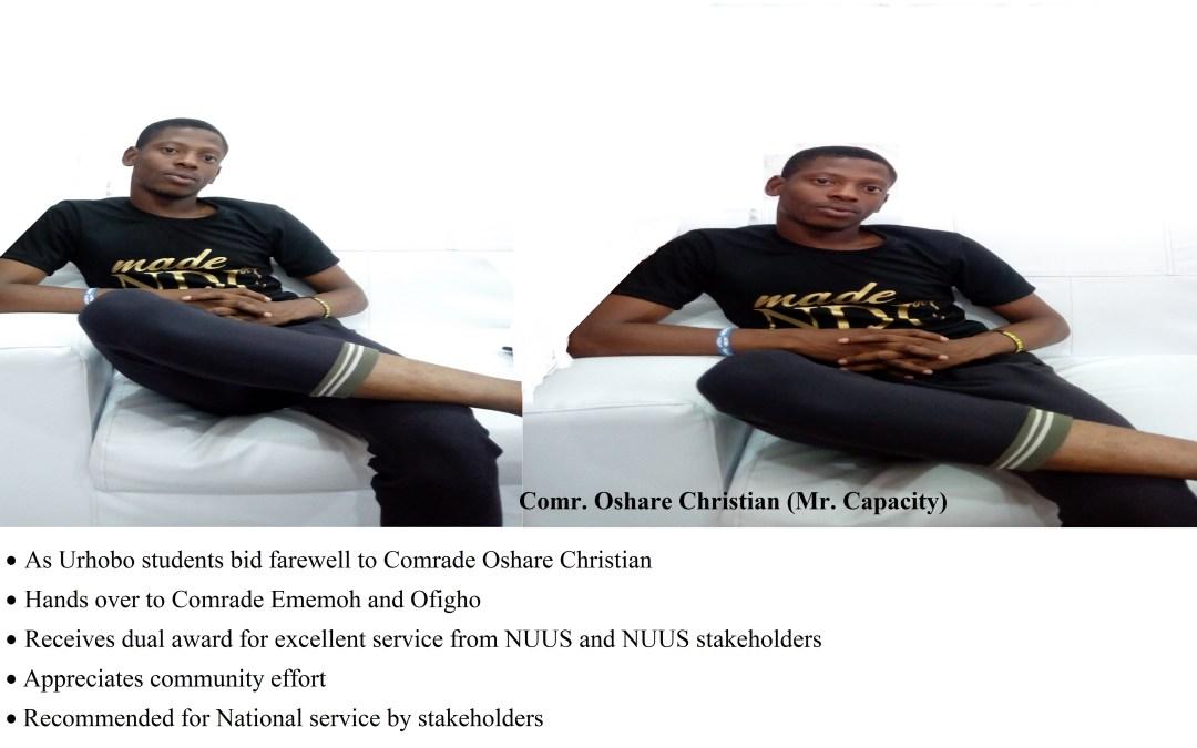 Comrade Ovie Oshare Christian: A Case of Quality Representation Beyond Imagination