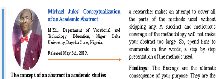 Conceptualization of an Academic Abstract