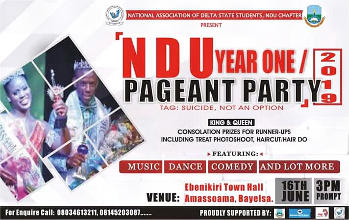 NADESSTU to Hold Her Year One Welcome Party 16th June