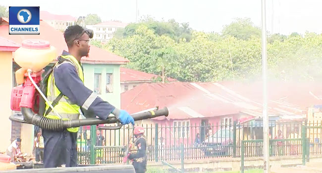 Ekiti Govt Fumigates Markets, Public Places Amid COVID-19 Lockdown