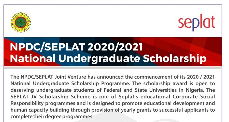New: SEPLAT 2020 Undergraduate Scholarship Application Ongoing! See Deadline