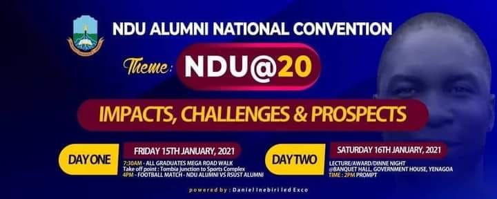 NDU Alumni National Convention to Hold 15th-16th January, 2021