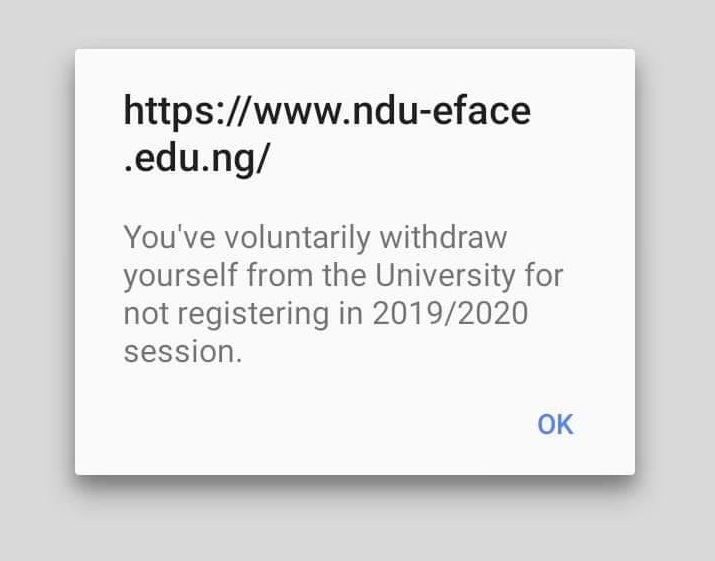 You Have Voluntarily Withdrawn Yourself from the University: See Why You are Seeing this Message