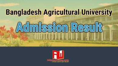Photo of BAU Admission Result 2018 | bau.edu.bd